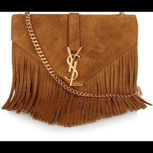 523d67292e Yves Saint Laurent Bags - Saint Laurent Fringe Camel Cross body bag